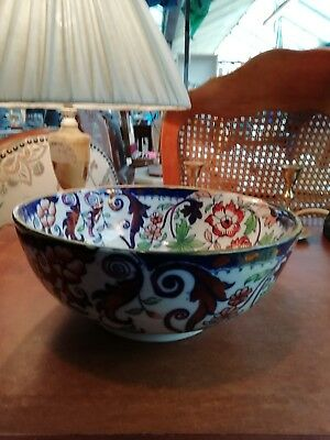 Antique japanese ironstone bowl