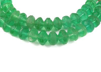Vaseline Trade Beads Green Bohemian Africa 30 Inch