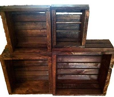 Darla'Studio 66 Vintage Stained- Rustic Wood Crates- Set of 4