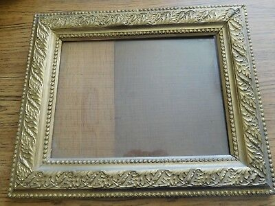 """Antique Gesso Gold Gilt Ornate Victorian PICTURE FRAME ~17"""" X 14"""" ~FREE SHIPPING"""