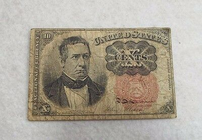 US Fractional Currency 10-Cent Note 5th Issue 1874-76 VERY GOOD