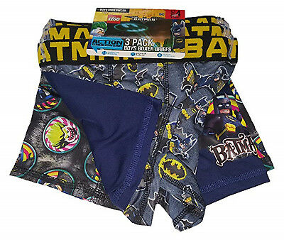 NEW Boys Licensed DC Comics Lego Batman 3 Pack Boxer Briefs Size Large 10