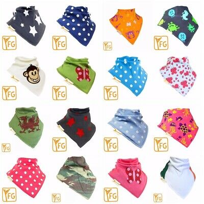 Funky Giraffe Baby Toddler Bandana Bib 100% Cotton  Dribble Dry 2018 Designs