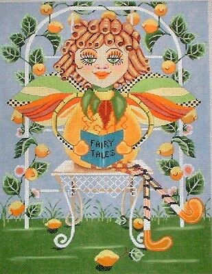 "KWC 6146 ""Lemon Tart Fairy"" Garden by TS Designs Hand Painted Needlepoint Canvas"