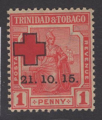 """TRINIDAD & TOBAGO SG174b 1915 1d RED """"1"""" OF """"15"""" WITH FORKED FOOT MNH"""