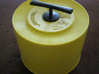 50 Lot 1970's-1980's Country Music 45 RPM Records With Vintage Yellow Carry Tote