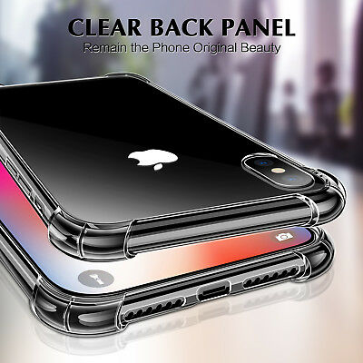 Shockproof Clear Hard Transparent Case Phone Cover For iPhone 6 6s 7 8 X Plus