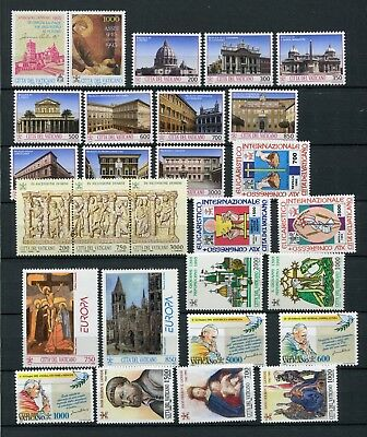 VATICAN 1993 MNH COMPLETE YEAR 27 Items