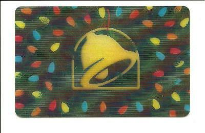 Taco Bell Lenticular Christmas Lights Gift Card No $ Value Collectible Holiday