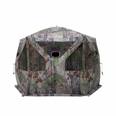 Barronett Blinds Pentagon Large Ground Hunting Hub Blind in Blood Trail Camo