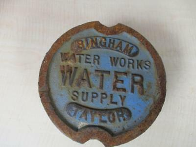 Antique Cast Iron Water Meter Cover/cap Bingham & Taylor Steampunk City Works