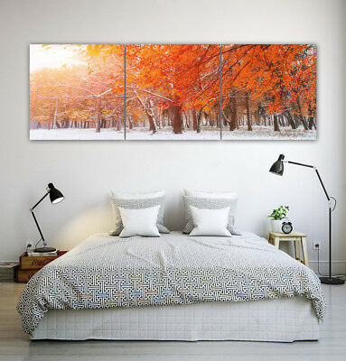 "16x16"" Charming Autumn Scenery 3Parts Home Wall Decor Art Printed Oil Paintings"