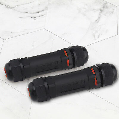 2 pcs IP68 Waterproof Electric Cable Plug Socket Connector Cable For OD≤12mm
