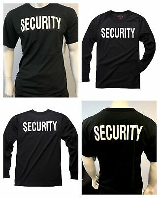 New Mens Army Style Security Uniform T-shirt Tee - Black -size S, M, L, XL, 2XL