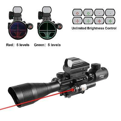 Rifle Scope 4-12x50EG Rangefinder Mil Dot Tactical Reticle Scope Red Dot Sight