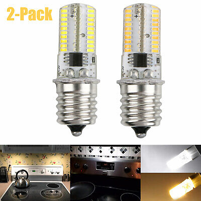 2x E17 80 LED 3014 SMD Bulb Microwave Oven Light Replacement Dimmable 4W 360LM
