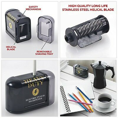 Artist Choice Electric Pencil Sharpener Battery Powered Heavy Duty Helical Blade