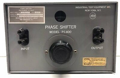 Vintage ITECO PS400 PS 400 Phase Shifter