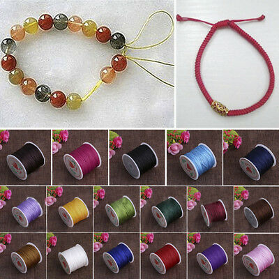 1 Roll 0.8mm Nylon Cord Thread Chinese Knot Macrame Rattail Braided String