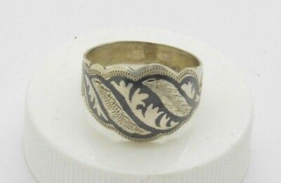 Post medieval Silver Ring with drawing. 18 Century