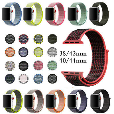 Sport Loop Band Apple Watch Nylon Strap iWatch For Series 4 3 2 1 38/42/40/44mm