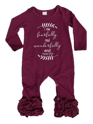 2cb09c2c7eb USA Newborn Baby Girl Ruffle Romper Jumpsuit Pajamas Long Sleeve Clothes  Outfit