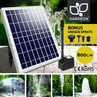 Gardeon 50W Solar Powered Water Pond Pump Outdoor Submersible Fountains