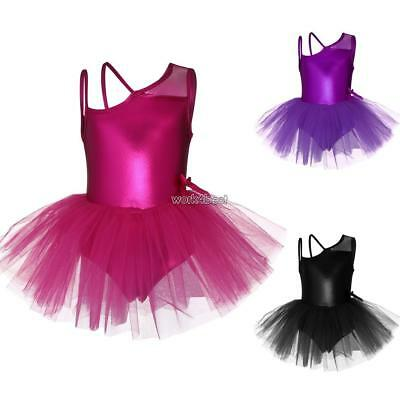 Girl Gymnastics Strappy Leotard Solid Camisole Leotard Bodysuit Ballet C1MY