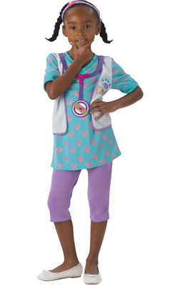 Girls Disney Doc McStuffins Pet Vet Uniform Fancy Dress Costume