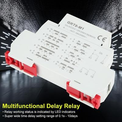 GRT8-M1 AC/DC 12V~240V Multifunctional Delay Time Relay w/ 10 Functions DIN Rail