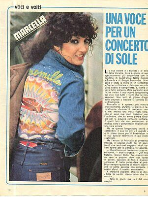 Q43 Clipping-Ritaglio  del 1975 Marcella Bella