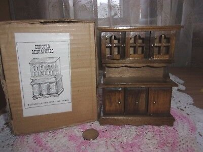 vintage Concord dollhouse Miniature wooden hutch breakfront #2374 IOB new
