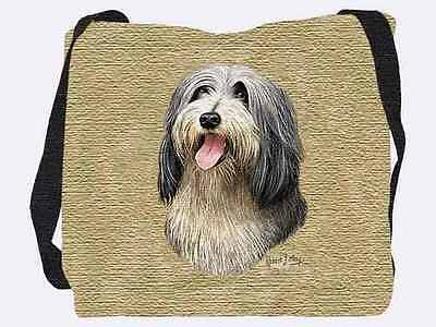 Woven Tote Bag - Bearded Collie 1151