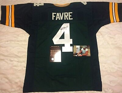 Brett Favre Signed Autograph Green Bay Packers Custom Jersey Favre Coa  Authentic d5694ce17