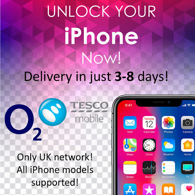 Unlocking UK O2 Network iPhone 4/4S/5/5S/5C/6/6S/6+/6S+/SE/7/7+ Express Service