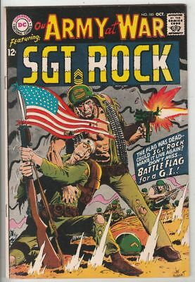Our Army at War # 185 Strict FN/VF+ Cover Joe Kubert American Flag, Russ Heath