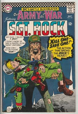 Our Army at War # 167 Strict NM- Sgt. Rock and Easy Co. Artist Joe Kubert