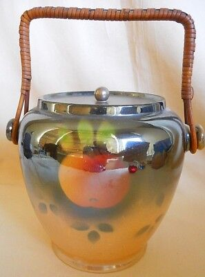 Newhall Pottery Biscuit Barrel ~ Boullemier Designed - Cane Handle