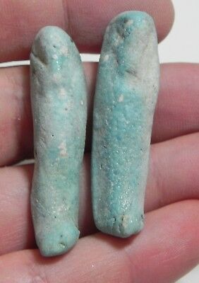 ZURQIEH -as9433-  ANCIENT EGYPT . LOT OF 2 ANCIENT USHABTIS ,  600 - 300 B.C