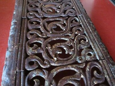 Antique Cast Iron Heat Radiator Cover Shelf Grate Ornate Victorian Plant Stand