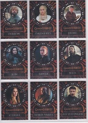 Game of Thrones Valyrian Steel L1-18 Laser Cut Chase Card Set