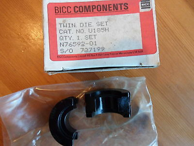 Hydraulic Crimper die Cembre BCC Burndy U185H twin die set