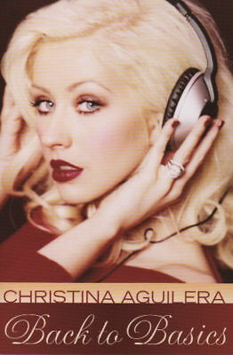 Christina Aguilera  promo art card  - Back To Basics  -  promo art card