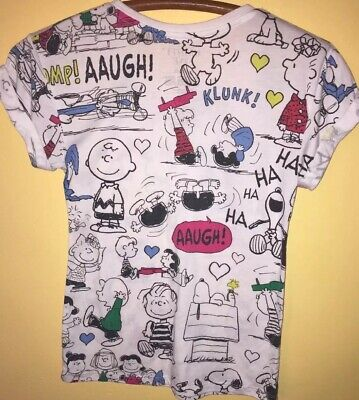Misses Peanuts Snoopy Mighty Fine Graphic T Shirt Xs 995 Picclick
