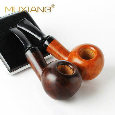 Handmade Smoking pipes pipe Briarwood Tobacco Pipe 3mm Metal Filter Light Color