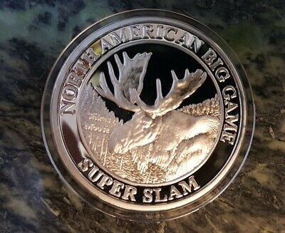 """2.5/"""" NAHC Hunting Club Les Kouba Heading for the Swamp Silver Plate Coin"""