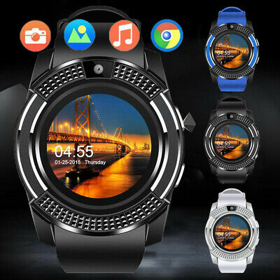 V8 Bluetooth Smart Watch Fitness Pedometer Clock SIM GSM For Android iOS Unisex