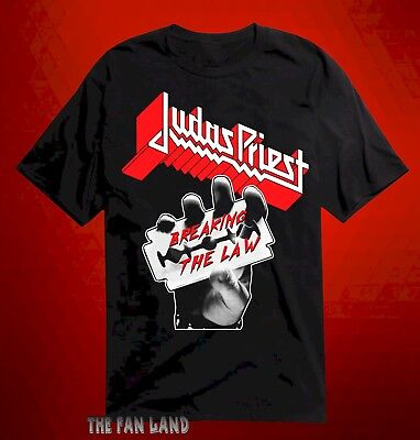 New Judas Priest Breaking the Law 1980 Vintage Mens T-Shirt
