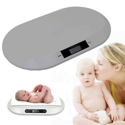 Digital Baby electronic weighing scale White ABS plastic w/LCD display KG/OZ/LB