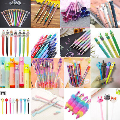 Cute Colorful Gel Pen Ballpoint Stationery Writing Sign Child School Office Tool